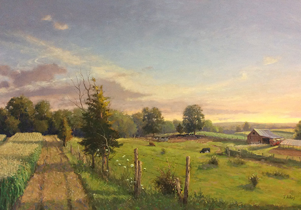 A Late Day In July, Logue Farm, 24-x-36 $5400