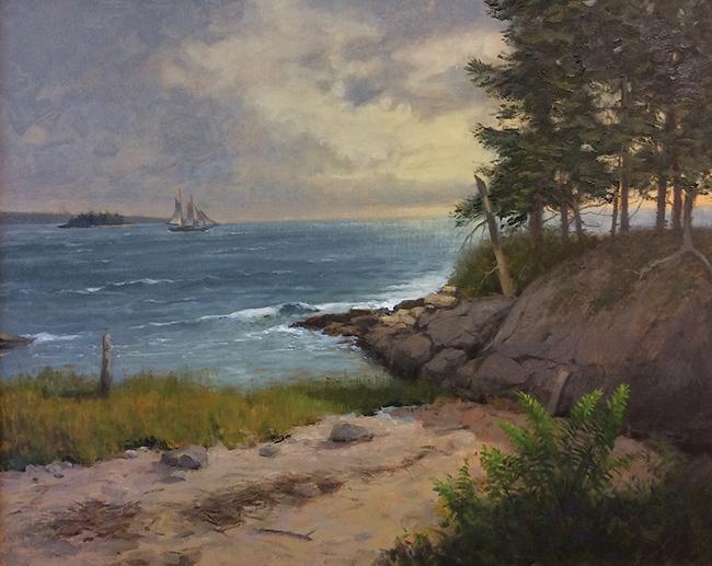 Clearing, Hog Island,16 x20 $2,400