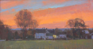 Farmhouse Sunset, 14x26
