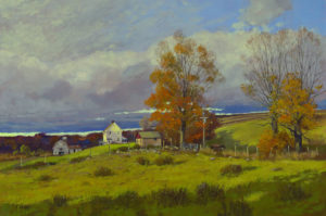 Fall, Passing Storm Front Oil on Linen 20x30