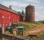 Chores Done on Larson's Farm