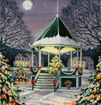 New Milford Bandstand Winter
