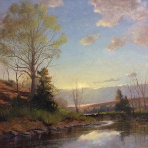 Minutes To Dusk Pomeraug River 24 x 24, $4,500