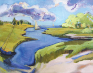 Clear Day, Barn Island 16x20