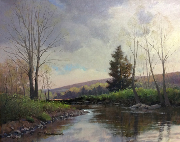 Spring On The Pomperaug River 24 x30 $4,800
