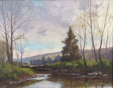 Spring Pomperaug River Study 11 x14 $1,400