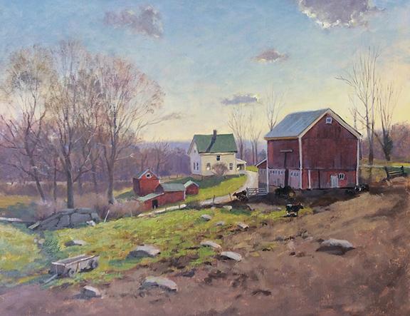 Spring Rising, Hipp Farm Study 11 x 14 $1,400