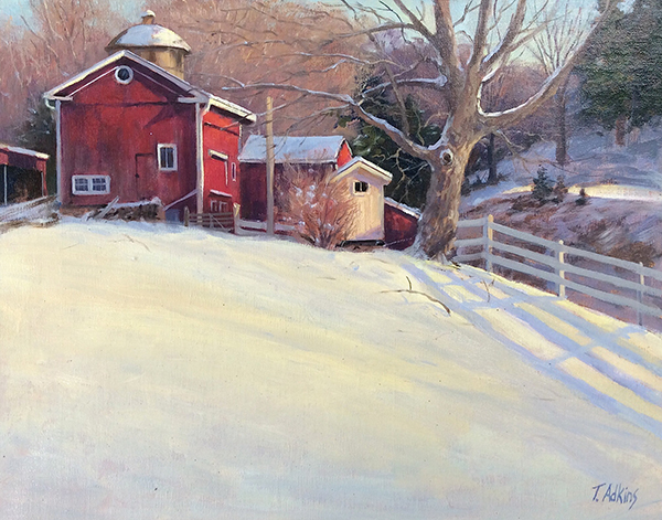 Winters Shadows Platt Farm 11 x 14 $1,400