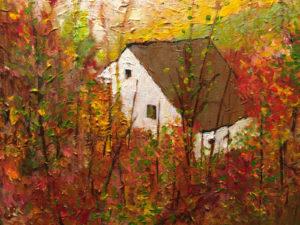 Rustic Cottage 12x16 acrylic