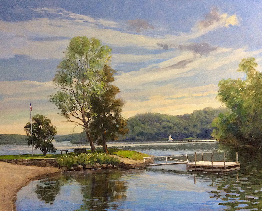 Spring, Atchison Cove, Candlewood Lake 24x30