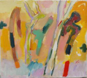 Della-Volpe Backyard Trees 16x18