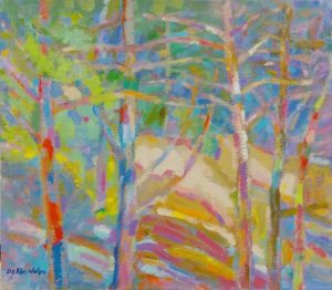 Della-Volpe Sunlight on Trees 16x18