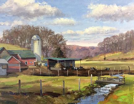 April, Farm Watertown 16 x20