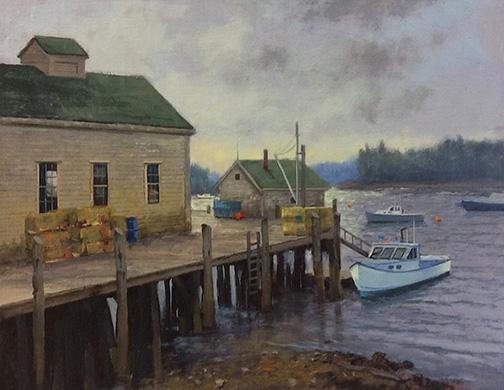 Friendship Harbor Fog Lifting 11 x 14