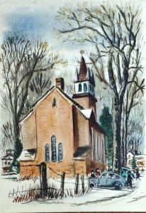 Woldemar Neufeld prints and watercolors Washington New Preston Connecticut