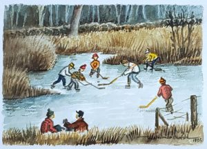 Hockey Players (watercolor)