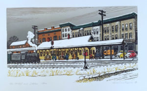 Woldemar Neufeld print Railroad Street New Milford