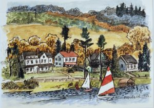 Sailing on Lake Waramaug (watercolor)