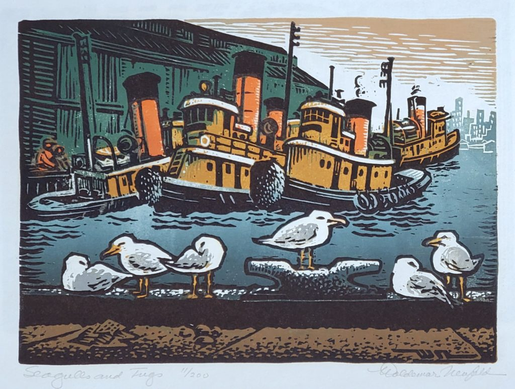 Seagulls and Tugs, Woldemar Neufeld Gregory James Gallery