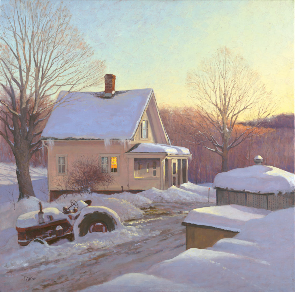 Winter Solitude, Hipp Farm, New Milford<br>15x15 $225<br>20x20 $345 <br>30x30 $525