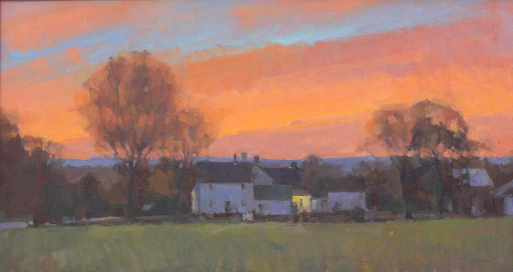 Farmhouse Sunset <br> limited-edition #3/30 <br>14x26  $300<br/>
