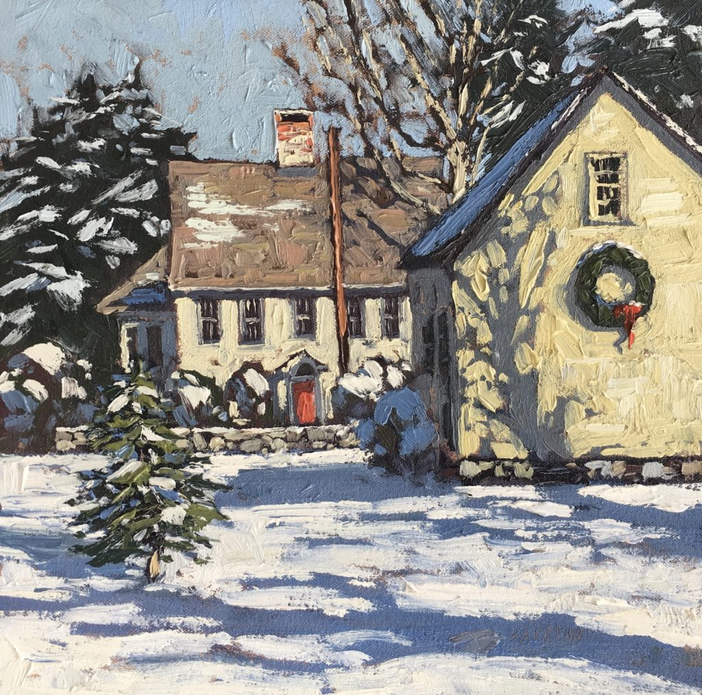 Wreath at Tappen-Reeve, 12x12, Jim Laurino