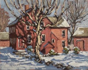 House on Chestnut, 9x9, Jim Laurino $500