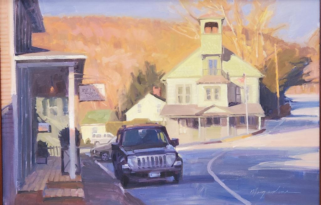 Christopher Magadini painting Pavilion Hall New Preston CT