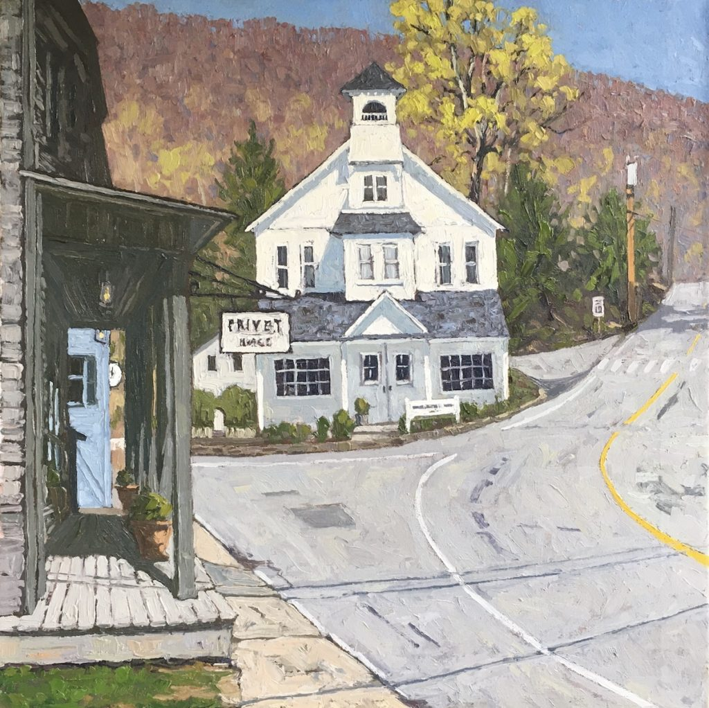 Pavilion Hall New Preston Connecticut painting Jim Laurino