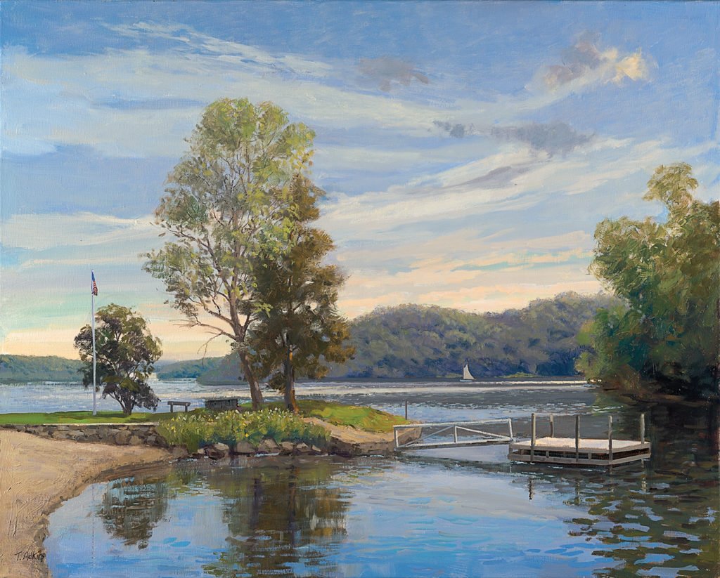 Atchinson Cove, Candlewood Lake <br> original 20x24<br>available prints<br>14x18 $225<br>20x25 $345 <br>24x30 $525