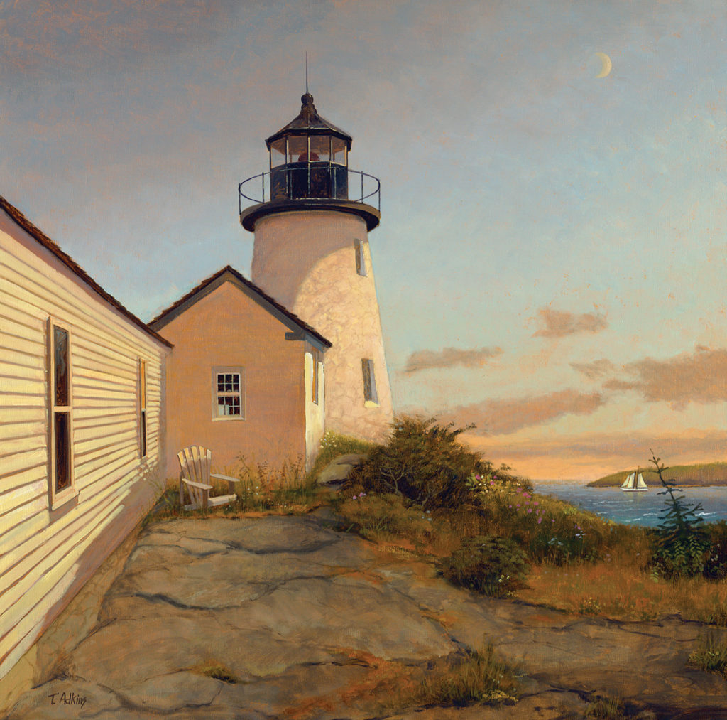 Burnt Island Lighthouse<br>15x15 $225<br>20x20 $345 <br>30x30 $525