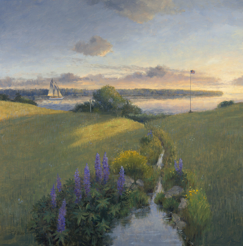 Lupines To The Sea<br>15x15 $225<br>20x20 $345 <br>30x30 $525
