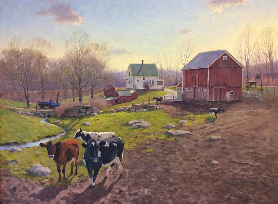 Spring Rising Hipp Farm original 30x40<br>14x19 $225<br>20x27 $345 <br>30x40 $525