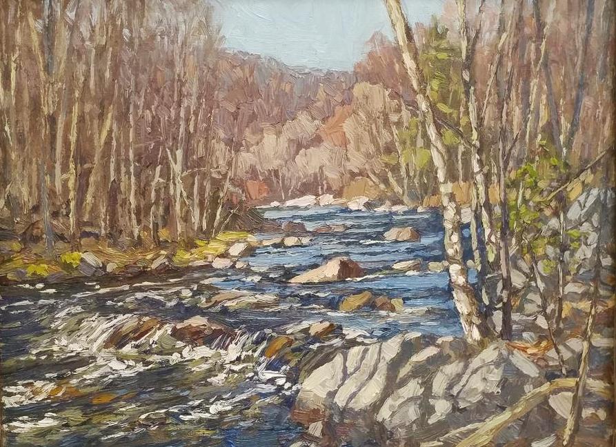 Farmington River 12x16 oil 1200