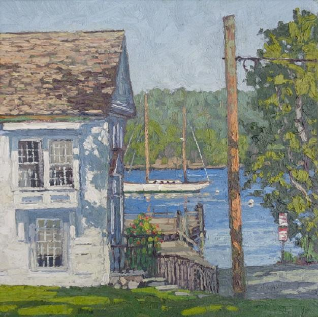 Connecticut River Boat Launch at Essex oil 14x14