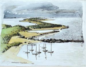 Napatree Point 12x16 1961 watercolor