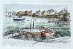 Watch Hill Harbor 5.5x8.5 1985 watercolor