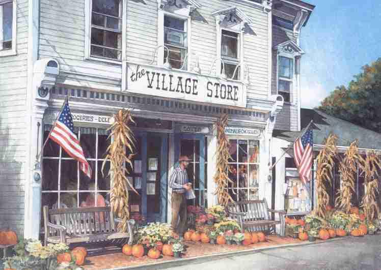 Bridgewater Village Store  12x16 $175