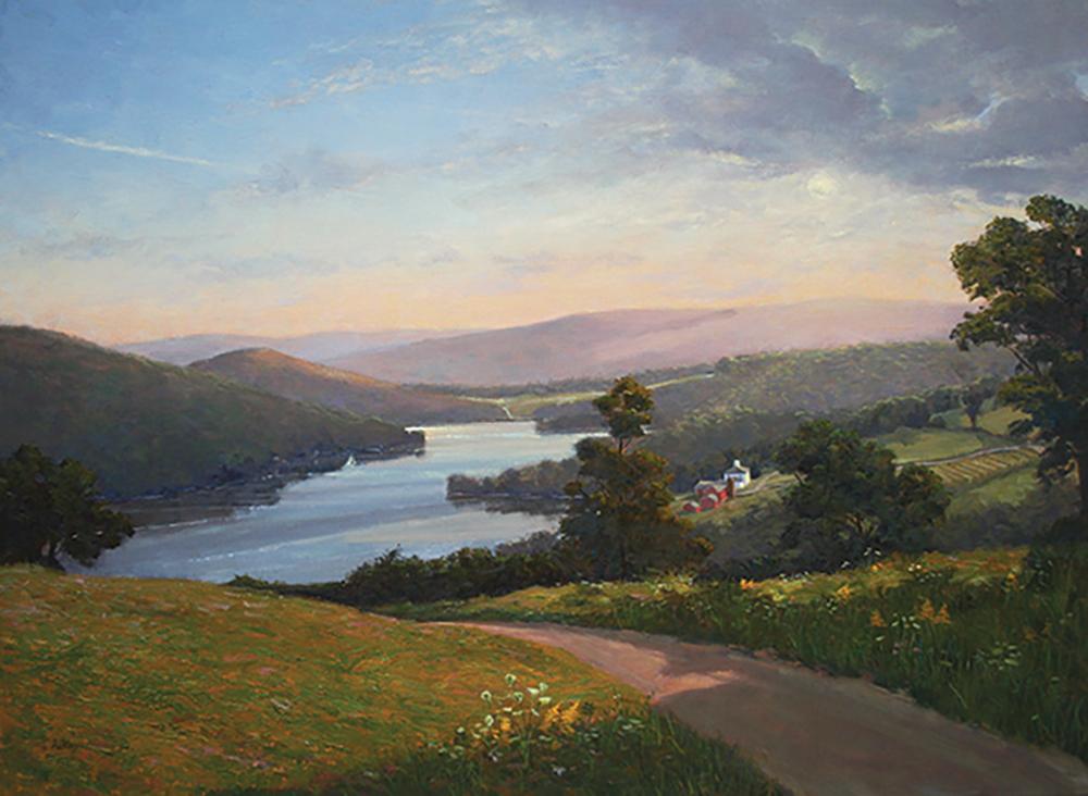 Lake Waramaug Summer<br> original 30x40<br>prints available <br>14x19 $225<br>20x27 $345 <br>30x40 $525