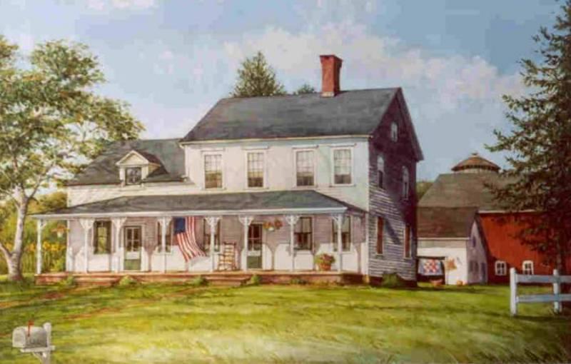 Larson's Farmhouse 11x17 $175