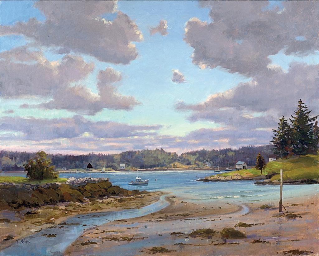 Low Tide, Pemaqiud, Maine<br>14x18 $225<br>20x25 $345 <br>24x30 $525