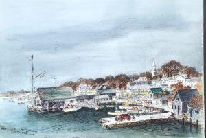 Edgartown 14x20 1956 watercolor